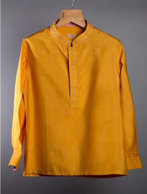 Cotton Kurta (Mustard Yellow)
