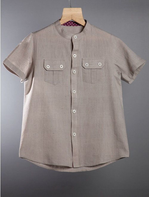 Cotton Shirt (Stone Grey)