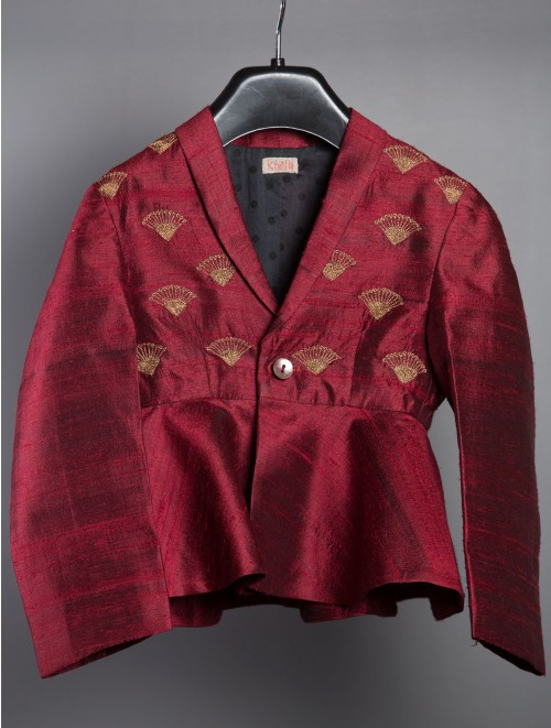 Peplum Jacket Burgundy