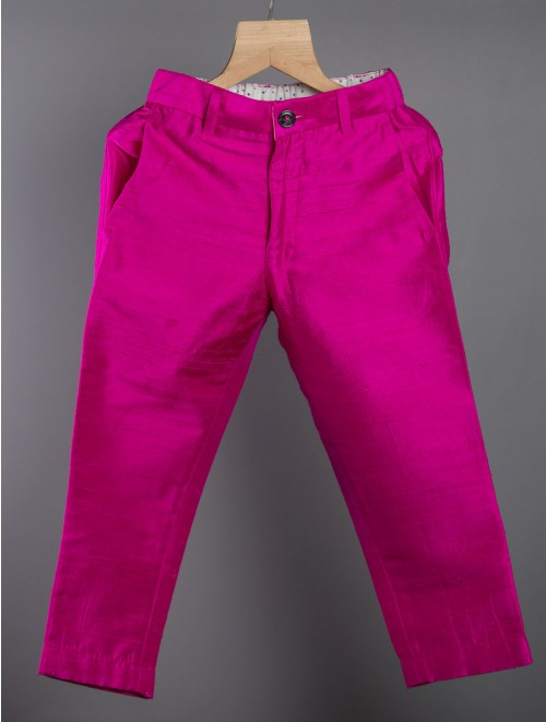 Silk Pants (Hot Pink)