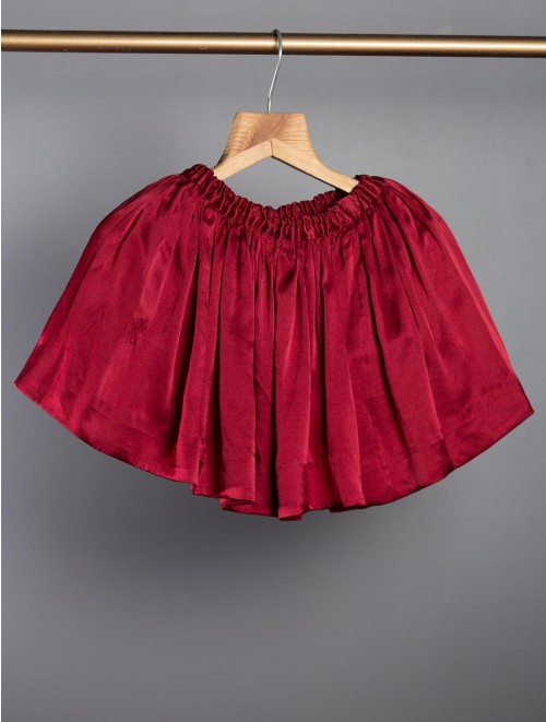 Satin Red Skirt