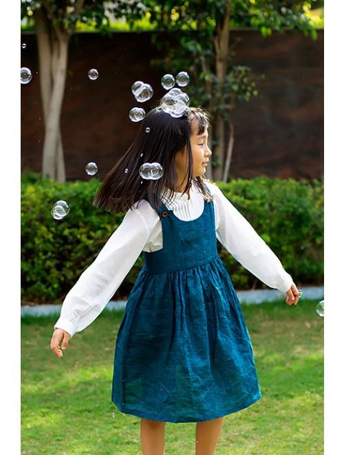 Pinafore Dress (Teal)