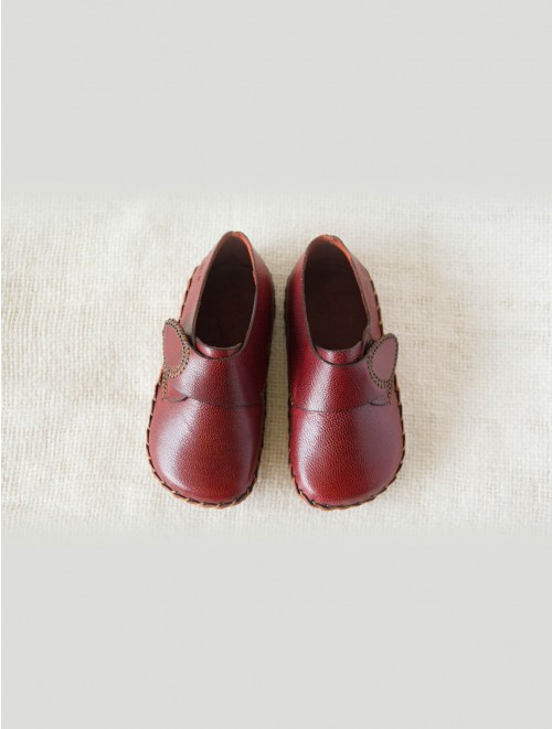 Side strap Infant Loafers (Maroon)