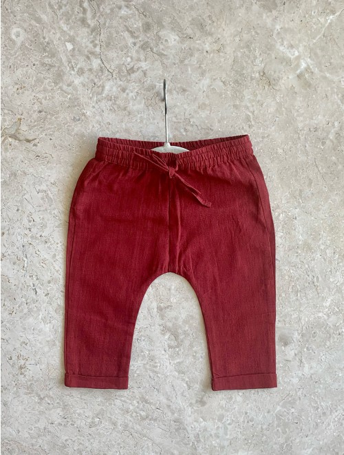 Red Baby Unisex Pants