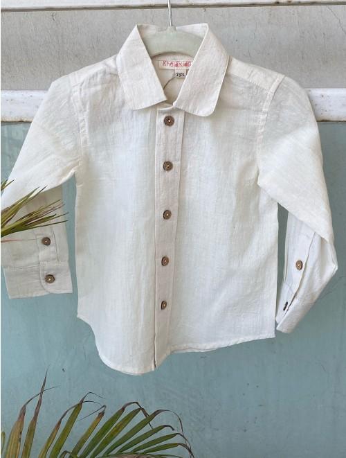Round Collar Baby Boy Shirt