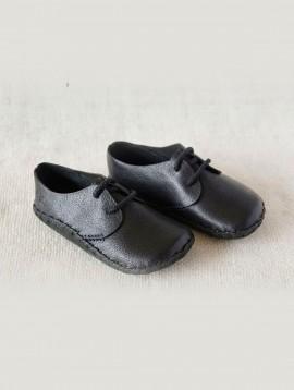 Lace-up Infant Shoes (Black)