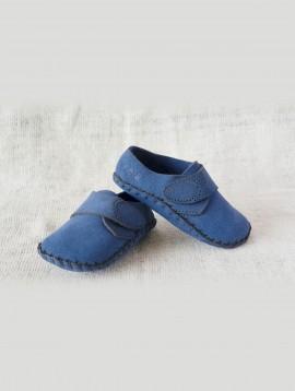 Side strap Infant Loafers (Suede Light Indigo)