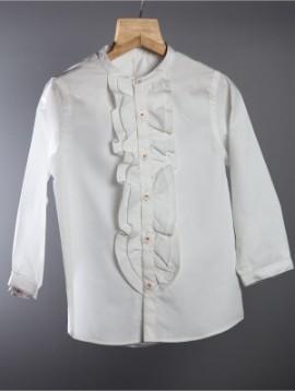 Ruffle Shirt Cotton White
