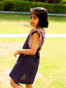 Pinafore Dress (Indigo)
