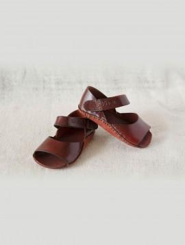 Infant Open Sandals (Maroon)