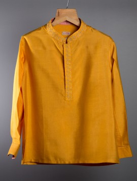 Cotton Kurta (Mustard Yellow)