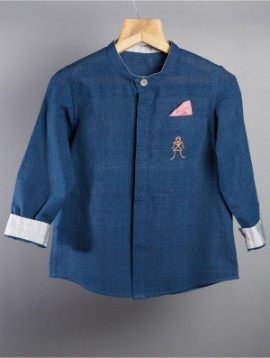 Cotton Shirt Navy