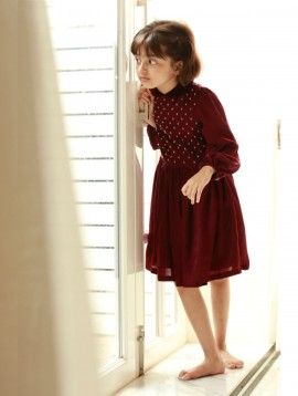 Georgette Party Dress Burgundy